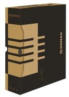 Archivační krabice na pořadač Donau A4/80 - 340x288x80 mm, hnědá/hnědá