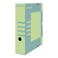 Archivační krabice na pořadač Donau A4/80 - s potiskem, 340x288x80 mm, lepenka, hnědá/šedá