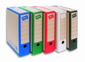 Archivační krabice na pořadač  Board Colour - 330x260x75 mm, hnědá/červená