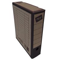 Archivační krabice na pořadač Board Colour - 330x260x75 mm, hnědá/černá