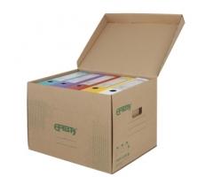 Archivační box Emba - 425x330x300 mm, hnědý