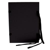 Spisové desky s tkanicí A4 - lepenka, černé