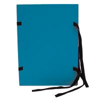 Spisové desky s tkanicí A4 - lepenka, modré