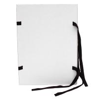 Spisové desky s tkanicí A4 - lepenka, bílé
