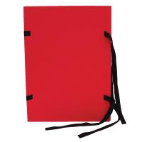Spisové desky s tkanicí A4 - lepenka, červené