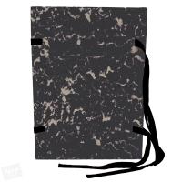 Spisové desky s tkanicí A4 Mramor - lepenka, černé