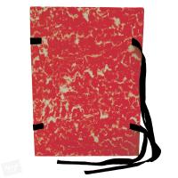 Spisové desky s tkanicí A4 Mramor - lepenka, červené