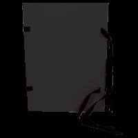 Spisové desky s tkanicí A4 - prešpán, černé