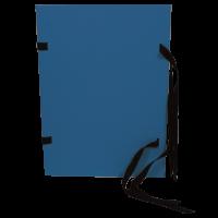 Spisové desky s tkanicí A4 - prešpán, modré