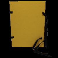 Spisové desky s tkanicí A4 - prešpán, žluté