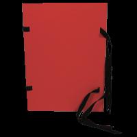 Spisové desky s tkanicí A4 - prešpán, červené