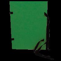 Spisové desky s tkanicí A4 - prešpán, zelené