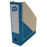 Stojan na katalogy Board Colour A4 - s potiskem, 300x230x75 mm, lepenka, hnědo-modrý
