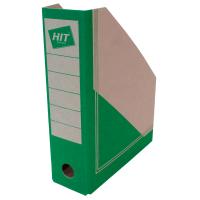 Stojan na katalogy Board Colour A4 - s potiskem, 300x230x75 mm, lepenka, hnědo-zelený