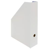Stojan na katalogy A4 - 325x250x75 mm, lakovaná lepenka, bílý