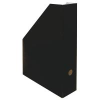 Stojan na katalogy A4 - 325x250x75 mm, lakovaná lepenka, černý