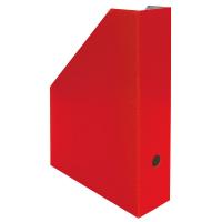 Stojan na katalogy A4 - 325x250x75 mm, lakovaná lepenka, červený