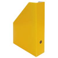 Stojan na katalogy A4 - 325x250x75 mm, lakovaná lepenka, žlutý