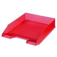 Odkládací zásuvka Herlitz - plastová, transparentní, červená