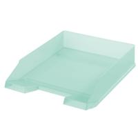 Odkládací zásuvka Herlitz - plastová, transparentní, mátová