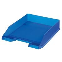 Odkládací zásuvka Herlitz - plastová, transparentní, modrá