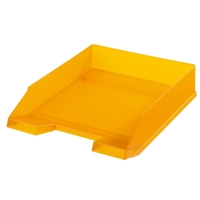 Odkládací zásuvka Herlitz - plastová, transparentní, oranžová