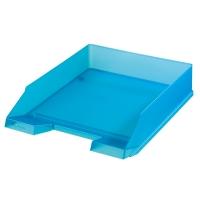Odkládací zásuvka Herlitz - plastová, transparentní, tyrkysová