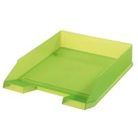 Odkládací zásuvka Herlitz - plastová, transparentní, zelená