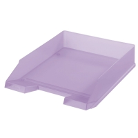 Odkládací zásuvka Herlitz - plastová, transparentní, fialová