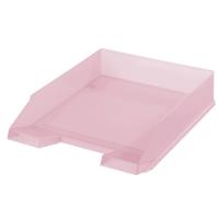Odkládací zásuvka Herlitz - plastová, transparentní, růžová