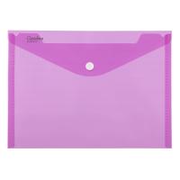 Spisové desky s drukem A4 - plastové, transparentní, růžová