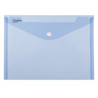 Spisové desky s drukem A4 - plastové transparentní, modré