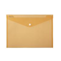 Spisové desky s drukem A5 - plastové, transparentní, oranžové
