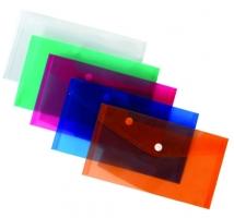 Spisové desky s drukem A5 - plastové, transparentní, zelené