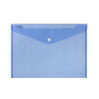 Spisové desky s drukem A5 - plastové, transparentní, modré