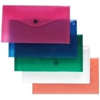 Spisové desky s drukem DL - plastové, transparentní, modré