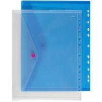 Závěsné spisové desky s drukem A4 - plastové, transparentní, modré