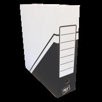 Archivační krabice na pořadač Hit - 330x300x100 mm, bílá/černá