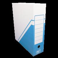 Archivační krabice na pořadač Hit - 330x300x100 mm, bílá/modrá