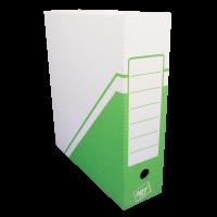 Archivační krabice na pořadač Hit - 330x300x100 mm, bílá/zelená