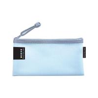 Obálka s kovovým zipem DL Pastelini - plastová, modrá