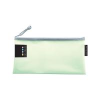 Obálka s kovovým zipem DL Pastelini - plastová, zelená