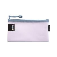 Obálka s kovovým zipem DL Pastelini - plastová, růžová