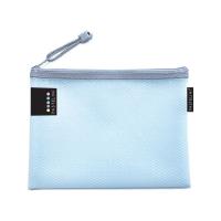 Obálka s kovovým zipem A5 Pastelini - plastová, modrá