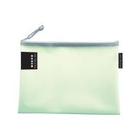 Obálka s kovovým zipem A5 Pastelini - plastová, zelená