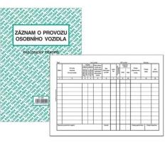 Záznam o provozu osobního vozidla ET 205 - A5, 50 listů