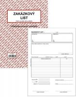 Zakázkový list PT 180 - propisující, A5, 50 listů