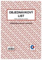 Objednávkový list PT 160 - propisující, A5, 50 listů