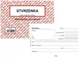 Stvrzenka PT 070 - propisující, A6, 50 listů