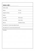 Kniha jízd maxi ET 320 - oboustranná, A5, 52 stran